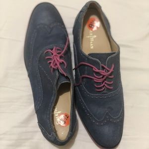 Cole haan Oxford NWOB blue and pink